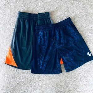 Two pairs boys athletic shorts